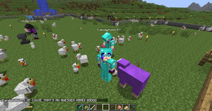 Playing Minecraft with Lindsey and Yanna :3 by VioletStar0131