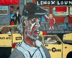 Gil Scott Heron on Lenox Avenue NYC by giuanne