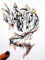 Phoenix fire tattoo design by MelodicInterval
