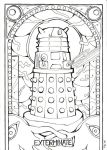 Stained Glass: Dalek (Outlines) by Scarlett-Winter