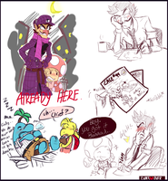 Detective waluigi doodles by Gam3-Over