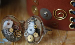 Steampunk Clockwork Ring by OcularFracture