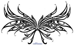 Wings tattoo by Neldorwen