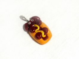 Hot DOG with polymer clay by Code-hearts