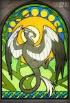 Forest Guardian Stained Glass Window [Commission] by FlyQueen