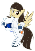 Wild Fire as The Stig Pony by Blue-Paint-Sea