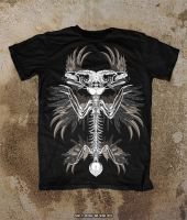Oblivion Skeleton Bird T-Shirt Mock Up Sample by Oblivion-design