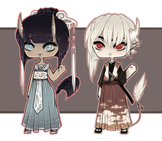 Asian Demons PART2/3 [Adoptables] CLOSED by Siraviena