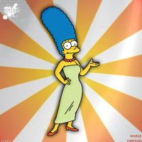 #002 - Marge Simpson - drawing by keyzar