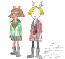 D.W. and Emily Dressed as Daria Characters by WillM3luvTrains