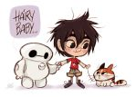 Big Hero 6 _ Chibi Baymax, Hiro kiddo, Hairy baby by princekido