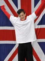 george sampson and union jack. by iheartgeorgesampson