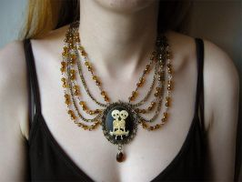 Necklace for my steampunk outfit by Estellanara