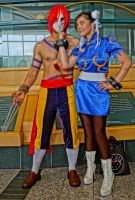 Chun Li and Vega by HerbstHayabusa