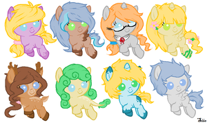 .:ADOPTABLES (CLOSED):. by Risky-su