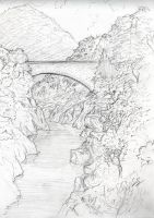 Herault river sketch by Serio555