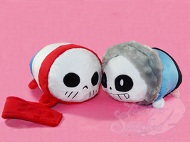 Skelebro Tsums by FeatherStitched
