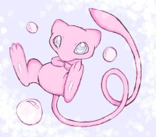 Mew by shiroiwolf