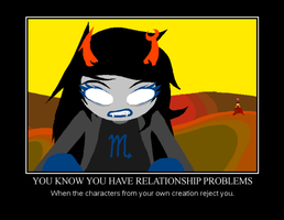 Hussie and Vriska Demotivational Poster by AnimeChickize