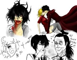 hellsing sketches by fabikiwii