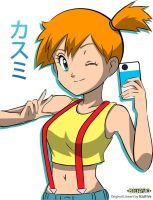Collab - Misty Self-Portrait (R3DFIVE) by Blue90