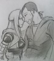 Tali x Shepard (23) by spaceMAXmarine