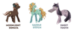 MLP Adoptable Auction ~ Halloween Set 2 [CLOSED] by tsurime