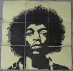 Jimi Hendrix (on post-its) by Neon55555