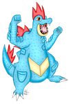 AT: Feraligatr by ChloeCassandra