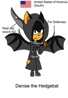 Assassin's Creed ref sheet: Denise the Hedgebat by Doggshort2
