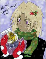 Merry Christmas Malik Colored by Akila-Ishtar