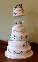 Wedding cake by zoesfancycakes