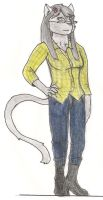 My cat, 'Apple' as a furry by Yinai-185