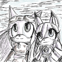 oek: Gatta and Crystal by Carn-the-Wolf