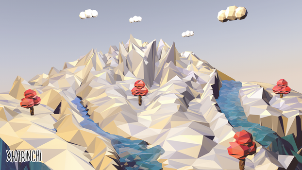 Isla flotante Low Poly by xKarinchi