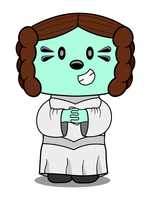 Daizy Dressed as Princess Leia by MDM--Productions