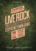 Live Rock Flyer/Poster by Giunina
