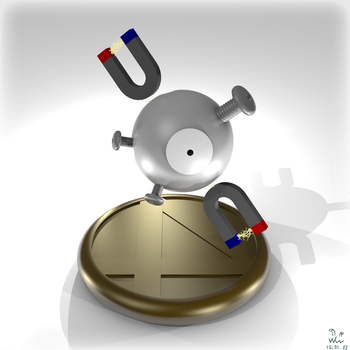 Magnemite Coin by Wasserwipf