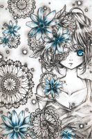 Blue Flowers by REBORNxYUI