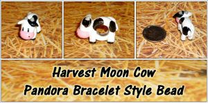 Harvest Moon Cow - Pandora Style Bead by YellerCrakka