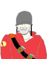 Soldier from Team Fortress 2 by animedugan