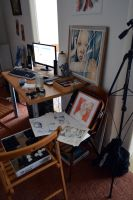 Inside the studio by jane-beata