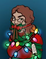 Happy Holidays Sketch by d4phnaie