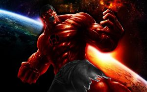 Red Lantern Hulk by 666Darks