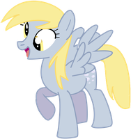Derpy- Hurricane Fluttershy Vector by DefectiveStudios