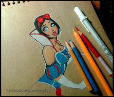Snow White WIP by renecordova