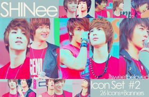 SHINee Icon Set 2 by sweetbeloved