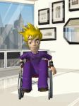 cloud wheelchair by Valforwing