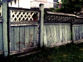 Blue Fence 2 by bibiaan