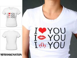 LOVE  female shirt by Frankenstijn